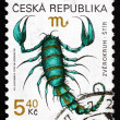 Postage stamp Czechoslovakia 1999 Scorpio, Sign of the Zodiac — Stock Photo