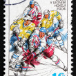 Постер, плакат: Postage stamp Czechoslovakia 2004 Hockey Players in Action