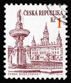 Postage stamp Czechoslovakia 1993 View of Ceske Budejovice — Stock Photo