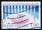 Postage stamp Finland 1989 Interparliamentary Union — Stock Photo