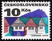 Postage stamp Czechoslovakia 1972 Old Houses, Liptov — Stock Photo