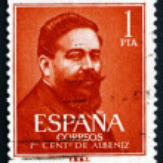 Postage stamp Spain 1960 Isaac Albeniz, Spanish Composer — Stock Photo