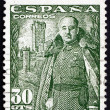Postage stamp Spain 1954 General Franco, Caudillo of Spain — Stock Photo