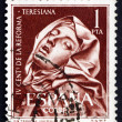 Postage stamp Spain 1962 St. Teresa, by Bernini — Stok fotoğraf