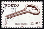 Postage stamp Norway 1982 Mouth Harp, Musical Instrument — Stock Photo