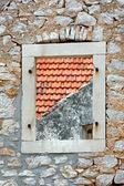 Window on the wall — Stock Photo