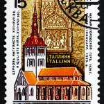 Postage stamp Russia 1990 Niguliste Church, Tallinn, Estonia — Stock Photo #42624265