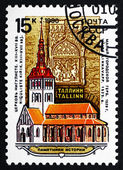 Postage stamp Russia 1990 Niguliste Church, Tallinn, Estonia — Stock Photo