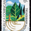 Postage stamp Dominican Republic 1982 Forest, Environmental Prot — Stock Photo