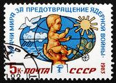 Postage stamp Russia 1983 Baby, Dove, Sun — Stock Photo