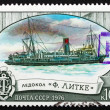 Postage stamp Russia 1976 Fedor Litke, Icebreaker — Stock Photo