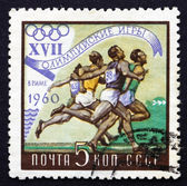 Postage stamp Russia 1960 Running, Olympic Games, Rome 60 — Stockfoto