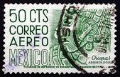 Postage stamp Mexico 1950 Chiapas, Bas-relief Profile — Stock Photo