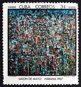 Postage stamp Cuba 1967 Havana Landscape, by Portocarrero — Stock Photo