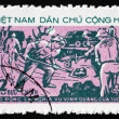Postage stamp Vietnam 1973 Road Building, Youth — Stock Photo