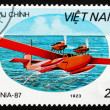 Postage stamp Vietnam 1987 Rohrbach Rostra, Seaplane — Stock Photo #43164389