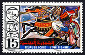 Postage stamp Tunisia 1975 Horse and Rider — 图库照片