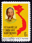 Postage stamp Vietnam 1976 Unification of Vietnam, Map — Stock Photo
