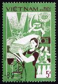 Posta pulu vietnam 1987 tüketim malları, verimlilik — Stok fotoğraf