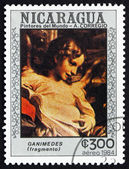 Postage stamp Nicaragua 1984 Ganimedes, Detail — Stock Photo