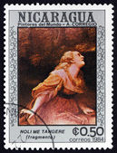 Postage stamp Nicaragua 1984 Noli Me Tangere, Detail — Stock Photo