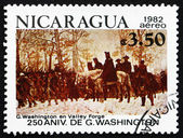 Postage stamp Nicaragua 1982 The March to Valley Forge — Stock Photo