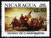 Postage stamp Nicaragua 1982 Crossing of the Delaware River — Stock Photo