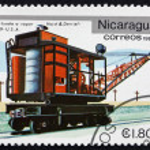 Postage stamp Nicaragua 1981 Hoist and Derriel, 1909 — Stock Photo