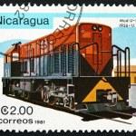 Postage stamp Nicaragua 1981 U-10B, Diesel Locomotive — Stock Photo #43383427