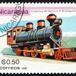 Postage stamp Nicaragua 1981 Vaporcito 93, Locomotive — Stock Photo