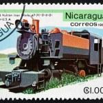 Postage stamp Nicaragua 1981 Vulcan Iron Works, 1946, Locomotive — Stock Photo