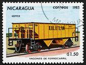Postage stamp Nicaragua 1983 Ore Wagon, Railroad Car — Foto Stock
