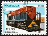 Postage stamp Nicaragua 1981 U-10B, Diesel Locomotive — Stock Photo