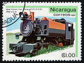 Postage stamp Nicaragua 1981 Vulcan Iron Works, 1946, Locomotive — Stock Photo