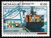 Porto de nicarágua 1983 selo de corinto — Foto Stock