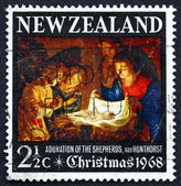 Postage stamp New Zealand 1968 Adoration of the Holy Child — Stock Photo