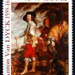 sello de franqueo Francia 1999 charles i, rey de Inglaterra, pintura — Foto de Stock   #43756123