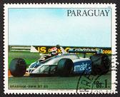 почтовая марка парагвай 1982 болид — Стоковое фото