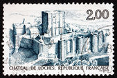 Postage stamp France 1986 Loches Chateau — Stock Photo