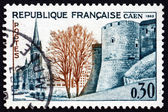Postage stamp France 1963 Church and Ramparts, Caen — Stock Photo