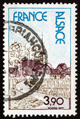 Postage stamp France 1977 Alsace, Region in France — Stock Photo