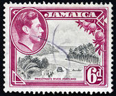Postage stamp Jamaica 1938 Priestman's River, Portland Parish — Stock Photo