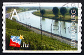 Postage stamp Luxembourg 2005 Vineyard Along Moselle River — ストック写真