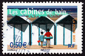 Postage stamp France 2003 Beach Cabins — Stock Photo