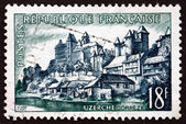 Postage stamp France 1955 View of Uzerche — Stock Photo