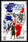 Postage stamp France 2005 D-Day Invasion of France — Stock Photo