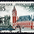 Postage stamp France 1961 City Hall, Calais — Stock Photo