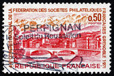 Postage stamp France 1971 View of Grenoble — Stock Photo
