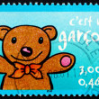 Postage stamp France 2001 Teddy bear — Stock Photo #44359007