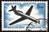 Estampilla caravelle francia 1957, avión — Foto de Stock